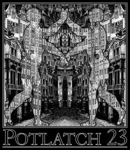 Potlatch 23 T-shirt Design by Freddie Baer